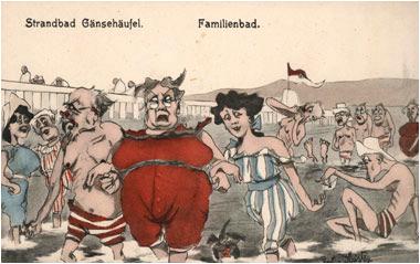 Postkarte Strandbad Gänsehäufel 1910 © Wien Museum
