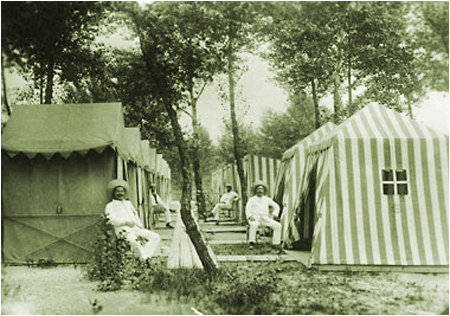 Strandkabinen Gänsehäufel, 1910 © Wien Museum