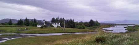 Kirche in Pingvellir, Althing-Ausweichquartier bei Schlechtwetter