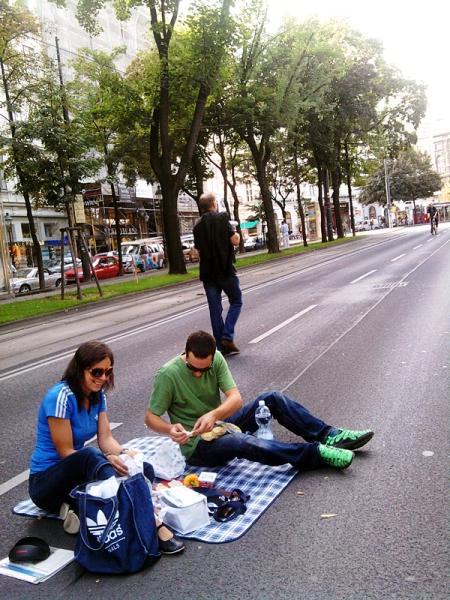 Picknick auf der Ringstraße