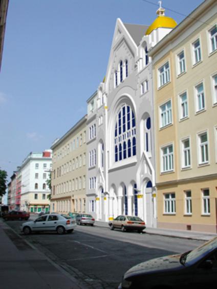(c) mandelbaum verlag - Synagoge in der Pazmanitengasse, Rekonstruktion