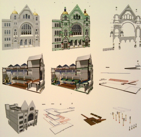 3D Rekonstruktion des Kaiser Franz Jospeh Huldigungstempel in der Pazmanitengasse